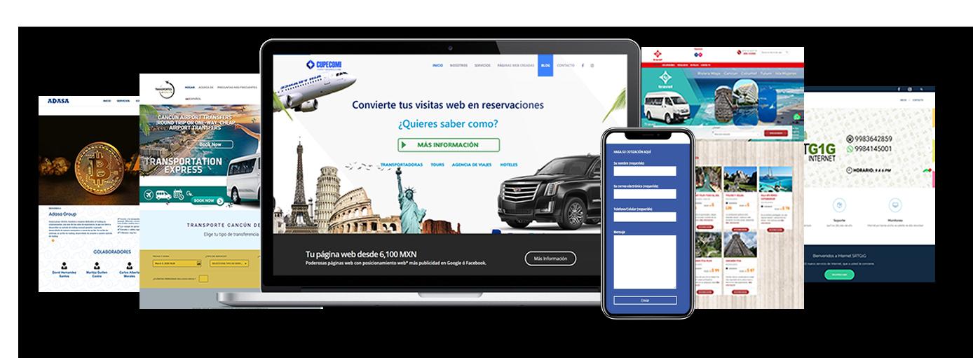 Poderosas páginas web en Cancún