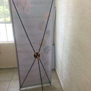 Banners publicitarios en Cancún forma de araña