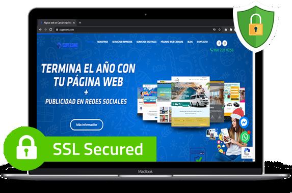 página web segura en Cancún